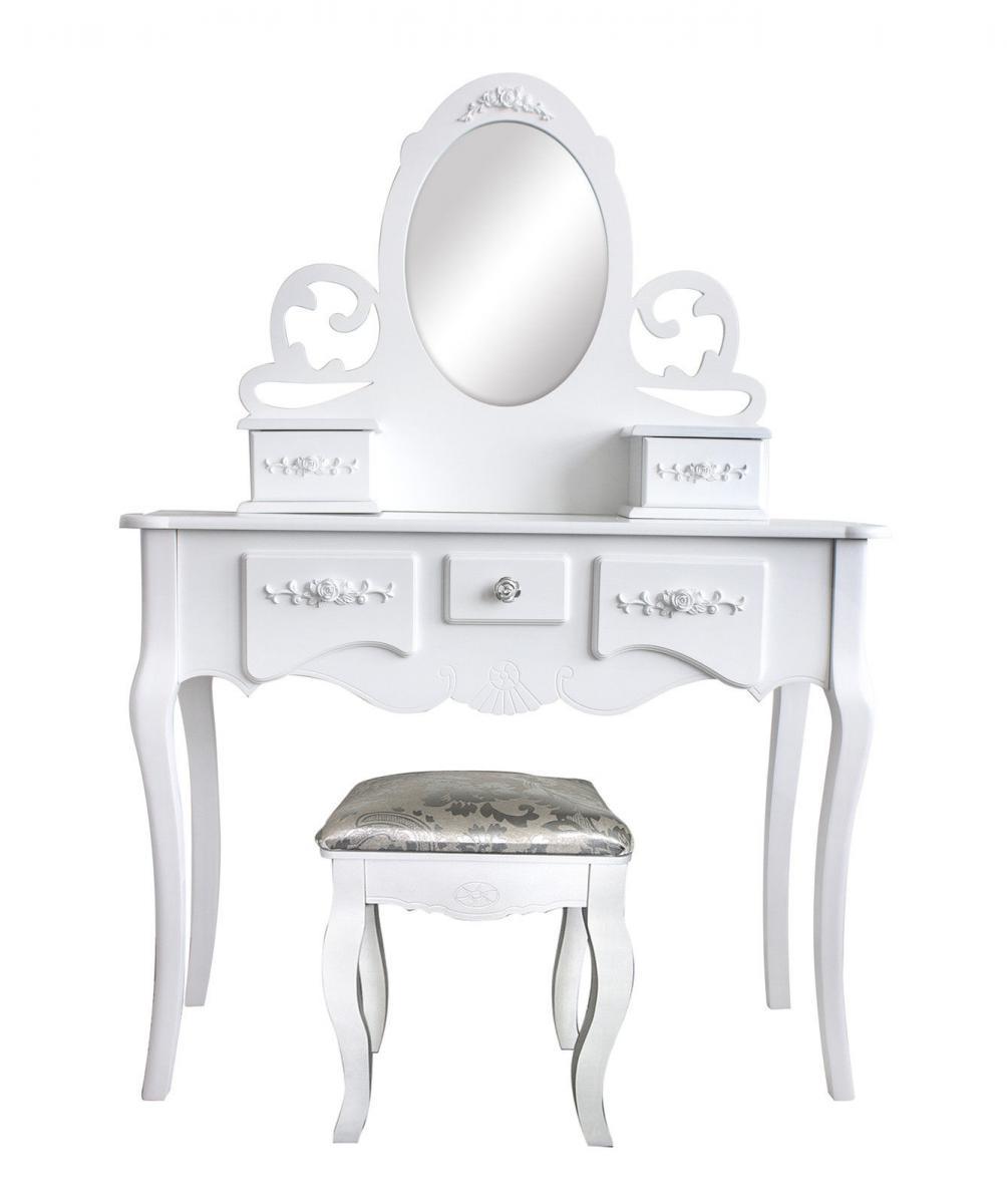Tavolo make up trucco specchio sgabello stile provenzale - Specchio make up professionale ...