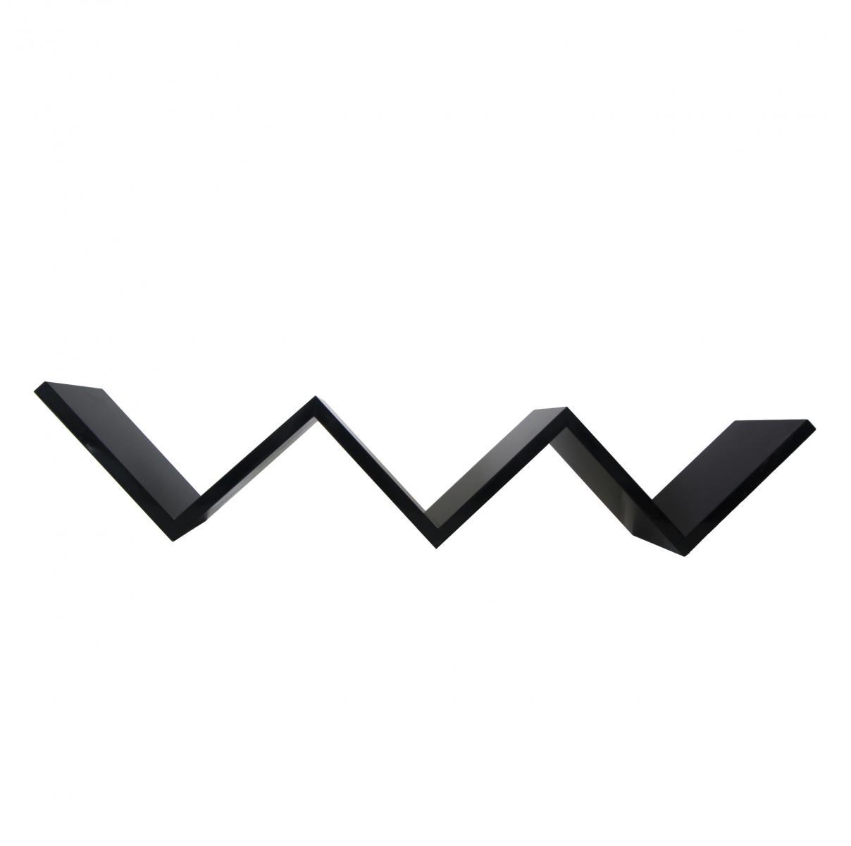 Mensola pensile a scala w 3 ripiani nero cubo design for Mobili rebecca potenza picena
