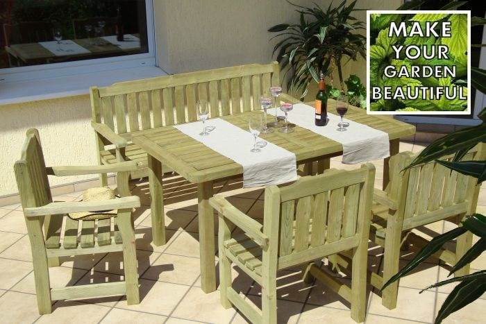 Cortina Garden Furniture Set High Quality Wood Durable And Elegant Ebay