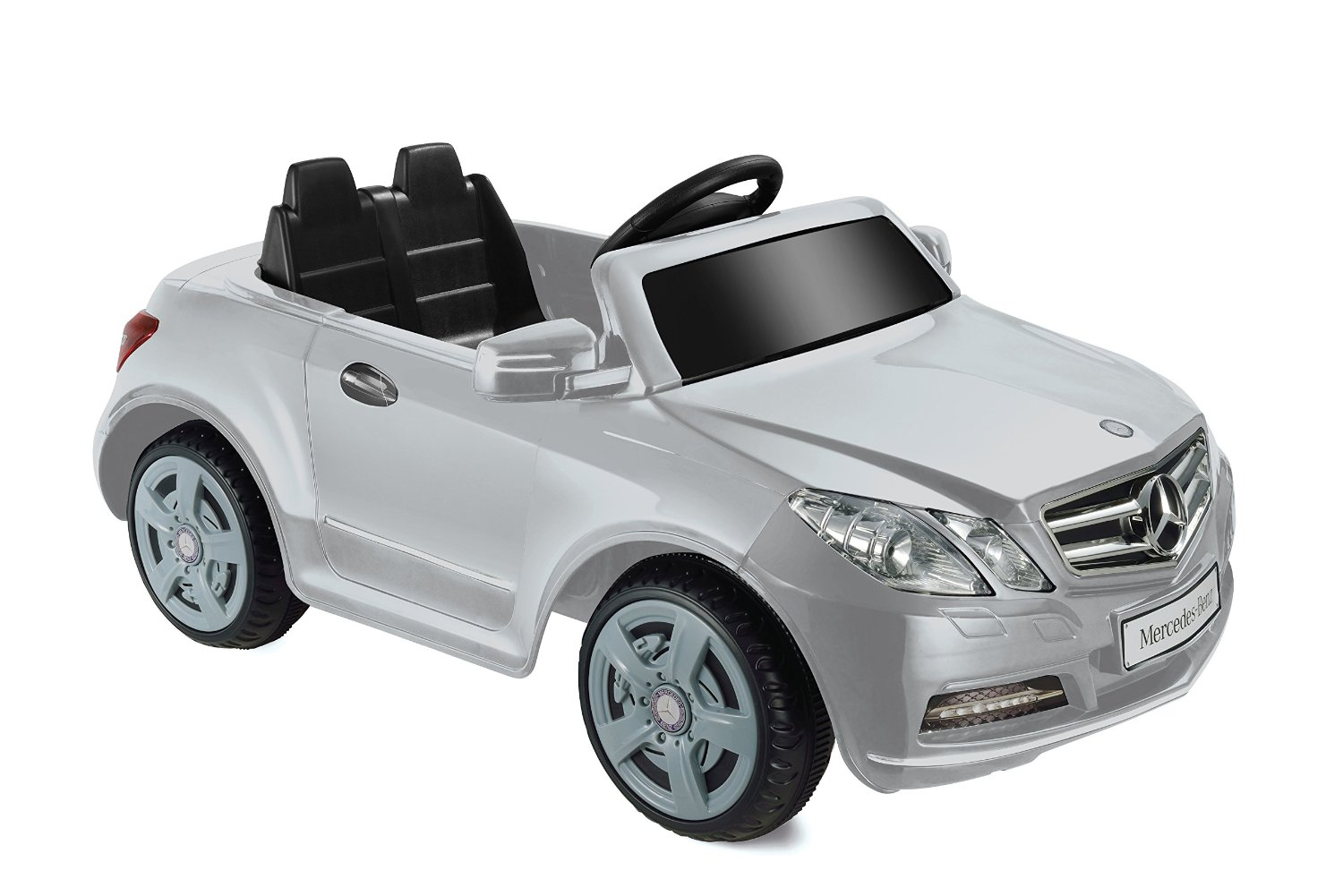 Kids motorz ride on toys mercedes benz e550 6v silver for Mercedes benz toddler car